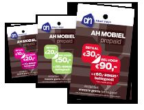 Prepaidkaarten van AH Mobiel