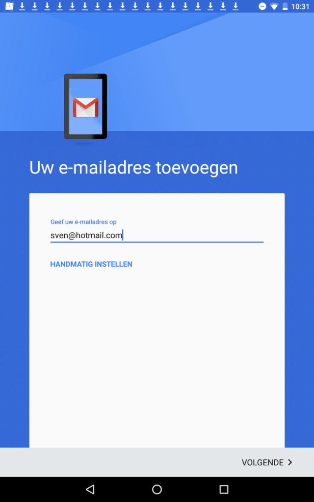 email- instellen