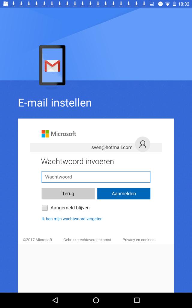 Email instellen